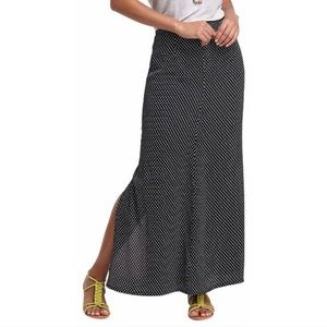 Anthropologie Polka Dot Maxi Skirt w/Slit